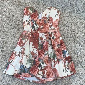 Charlotte Russe floral romper